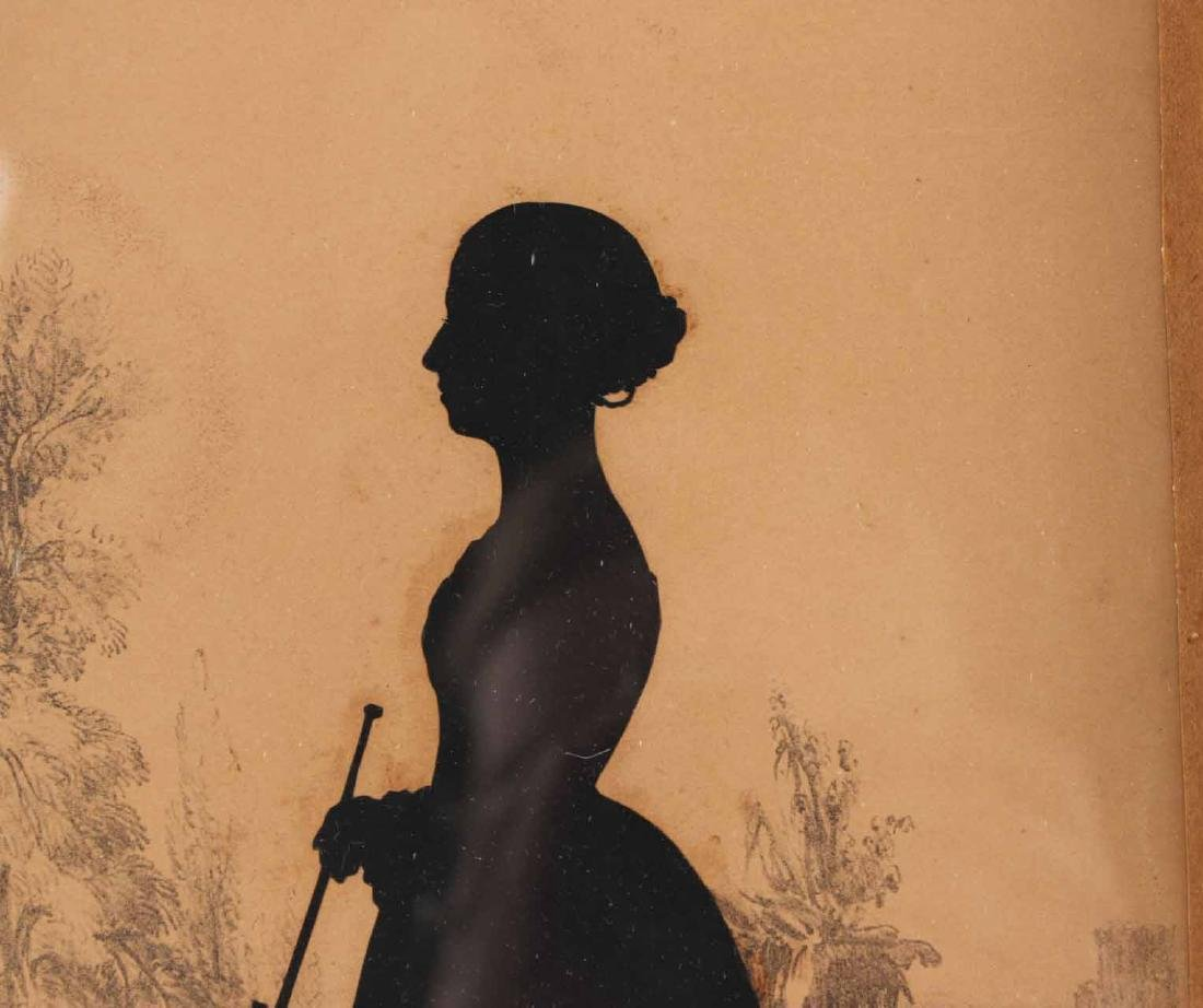 Two Silhouettes Depicting Young Ladies - 8