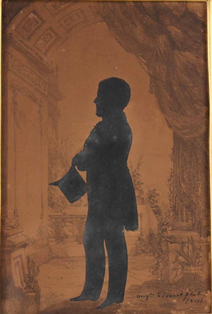 Silhouette of a Gentleman with Top Hat - 2