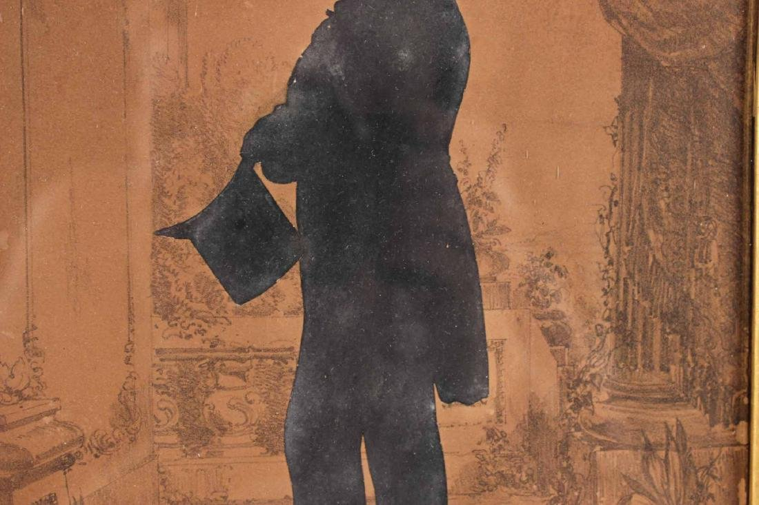 Silhouette of a Gentleman with Top Hat - 5