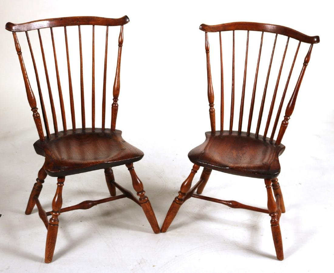 Pair of Windsor Fan-Back Side Chairs