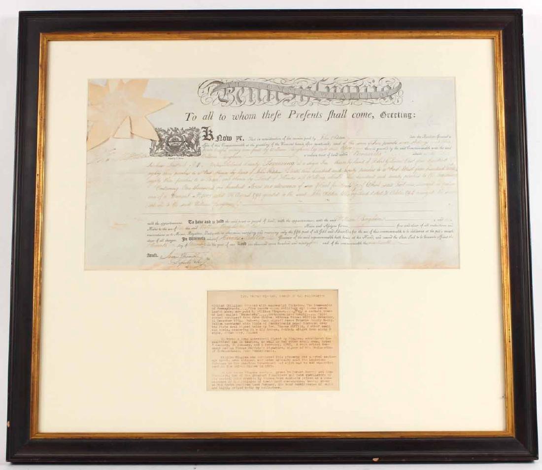 Partially Printed Document, Thomas Mifflin