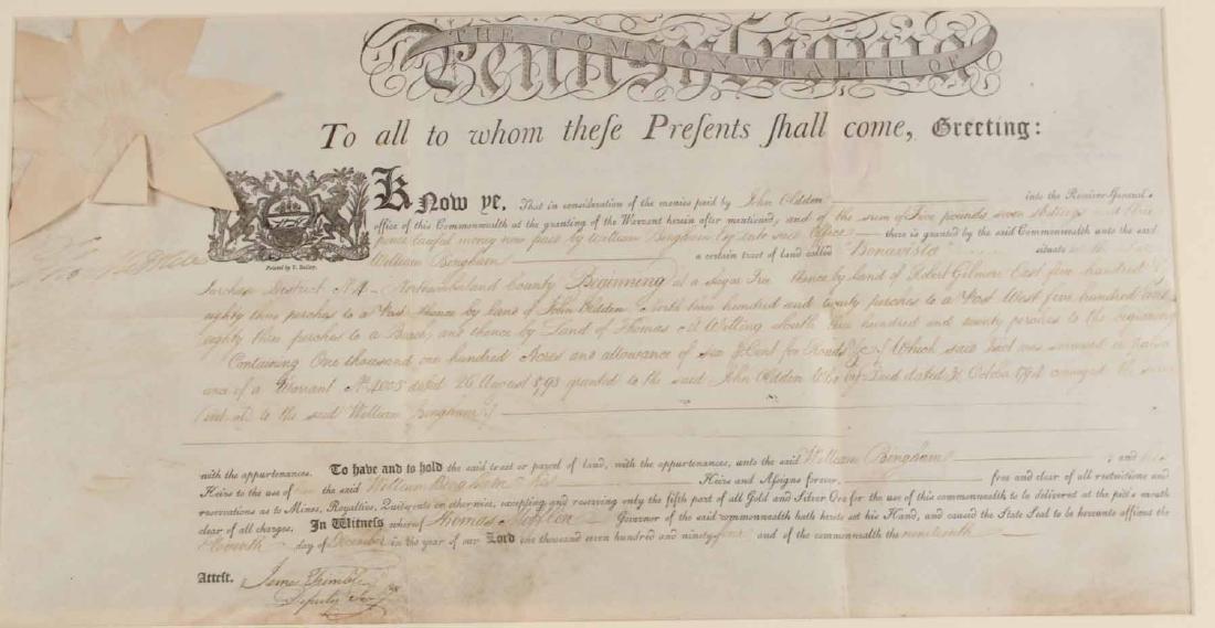 Partially Printed Document, Thomas Mifflin - 3