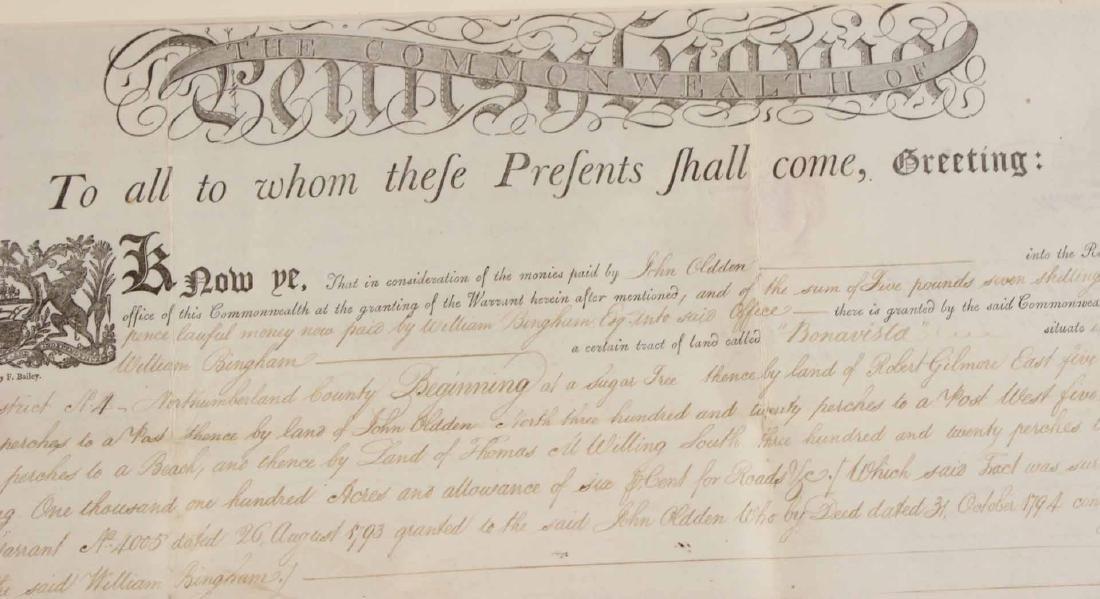Partially Printed Document, Thomas Mifflin - 4