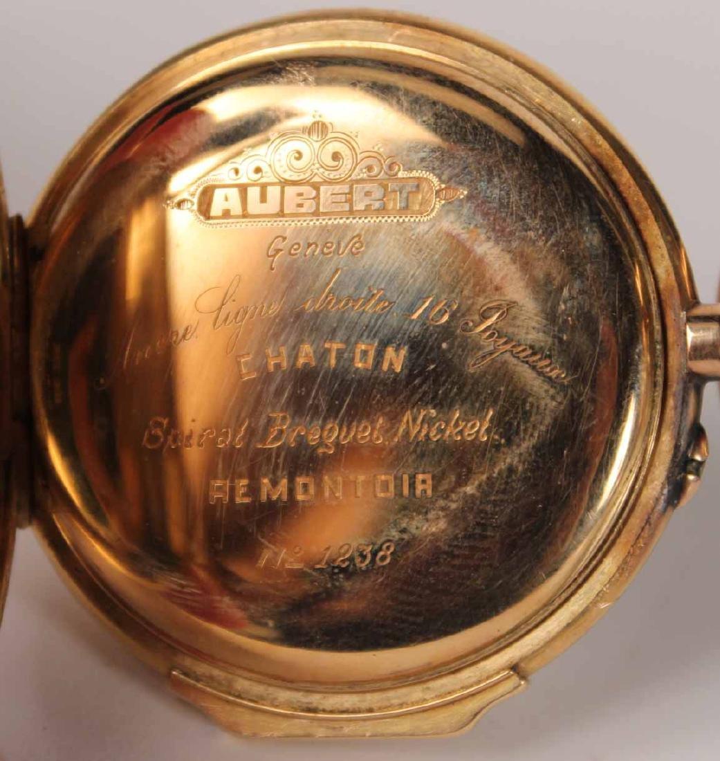 18K Yellow Gold Aubert Geneva Hunter Case - 5