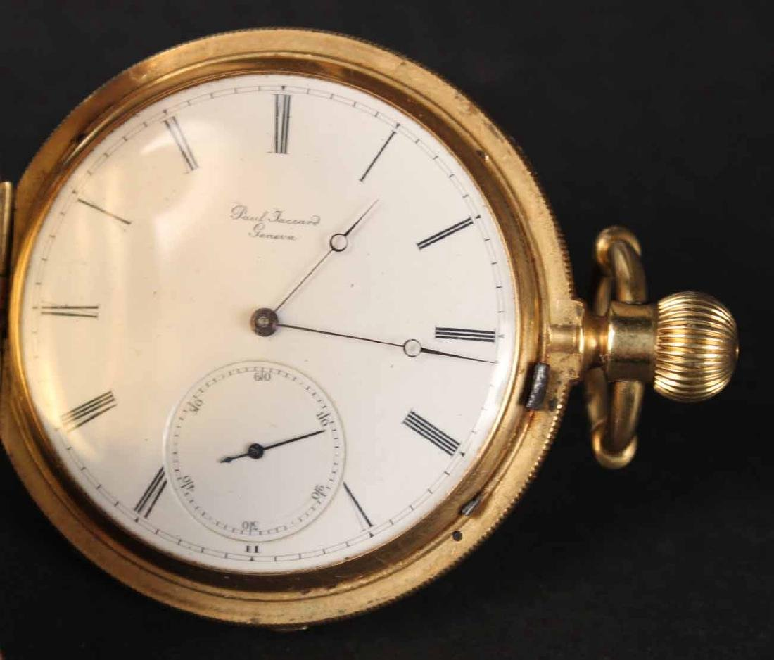 14K Yellow Gold Paul Jaccard Geneva Hunter Case - 3