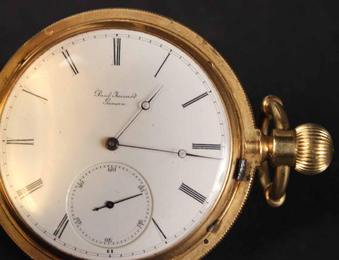 14K Yellow Gold Paul Jaccard Geneva Hunter Case - 4