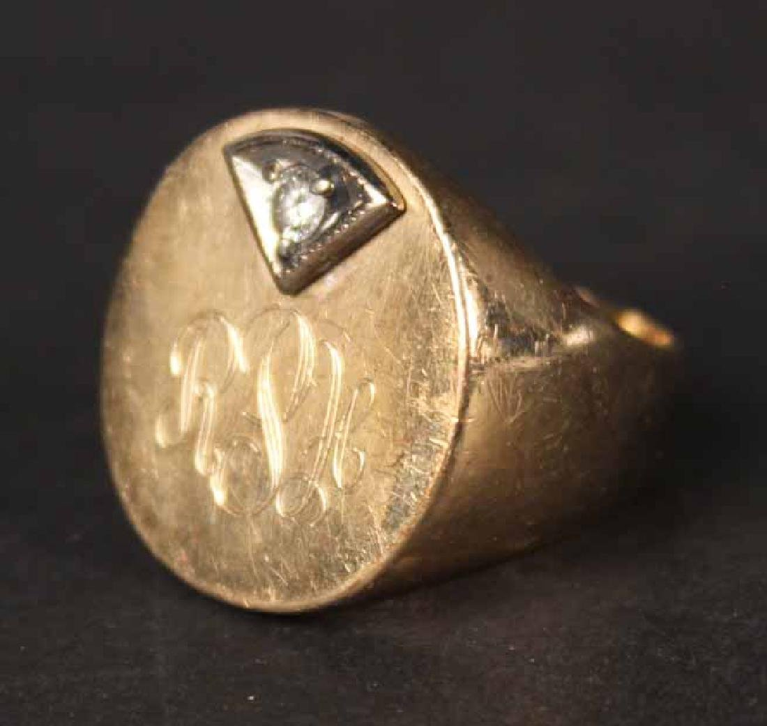 Unmarked Yellow Gold Signet Ring - 2