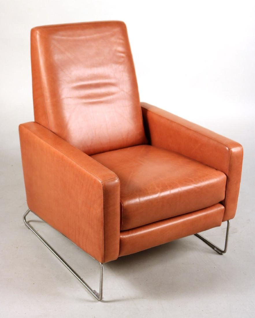 Ted Boerner Brown-Leather Reclining Chair