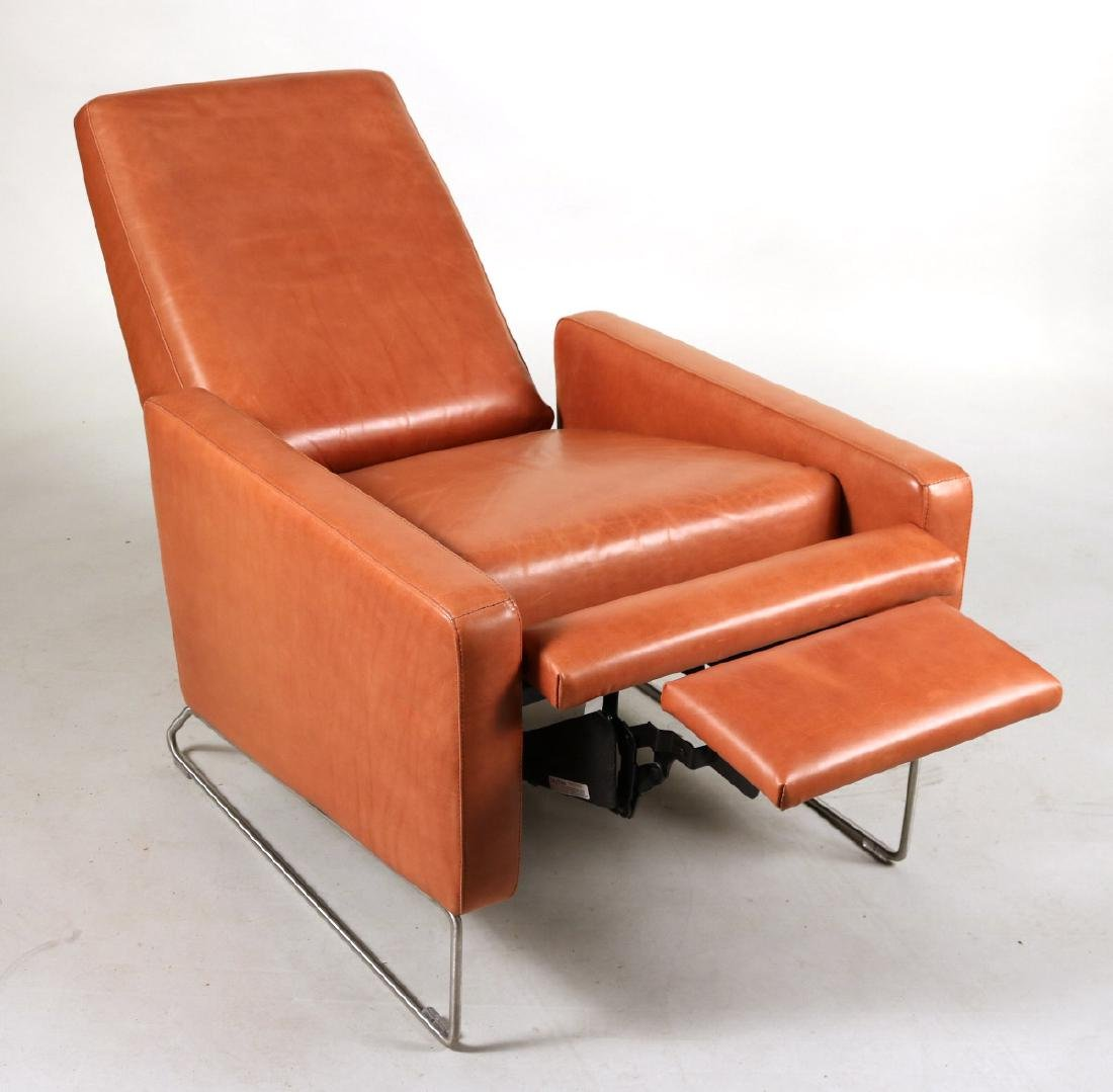 Ted Boerner Brown-Leather Reclining Chair - 2