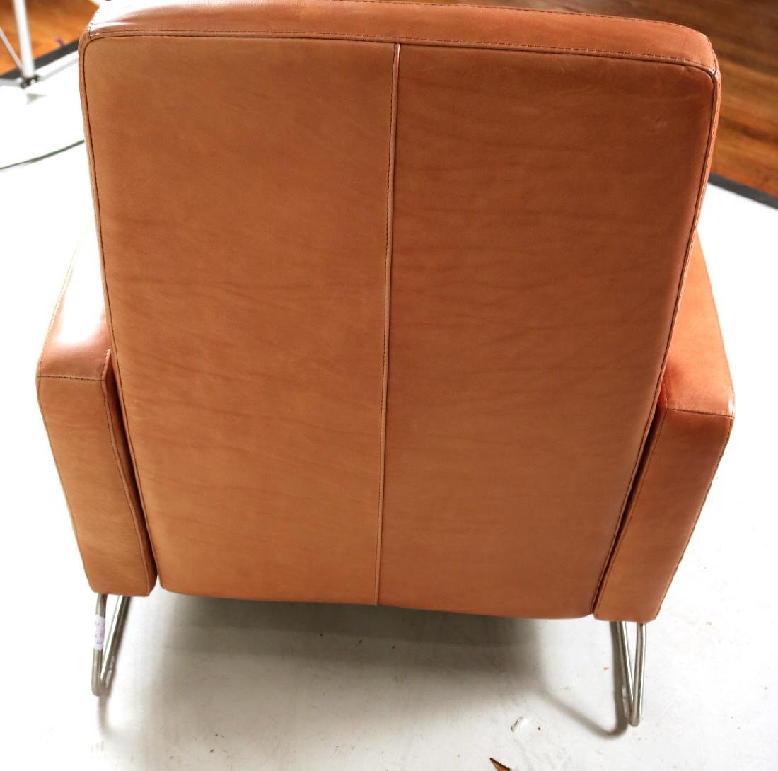 Ted Boerner Brown-Leather Reclining Chair - 6