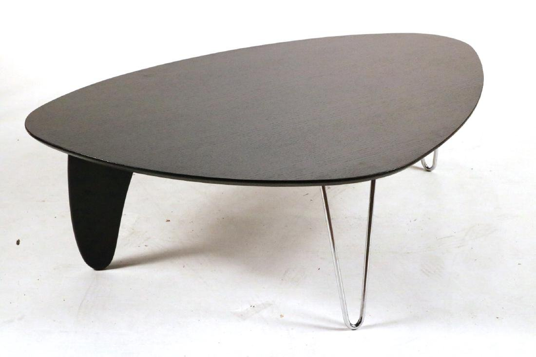 Modern Black-Stained and Chrome Low Table