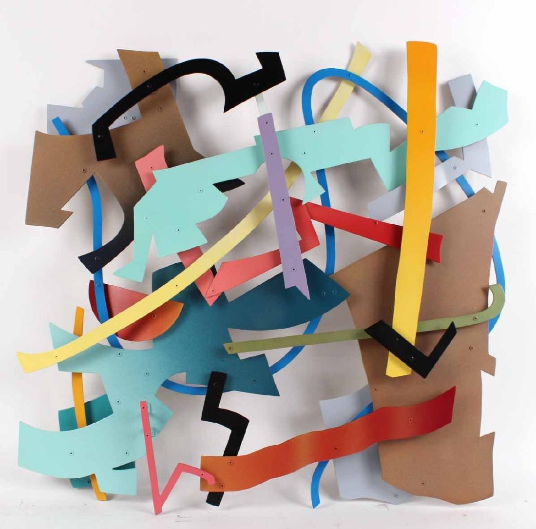 Painted Metal Wall Sculpture, Daniel Roache