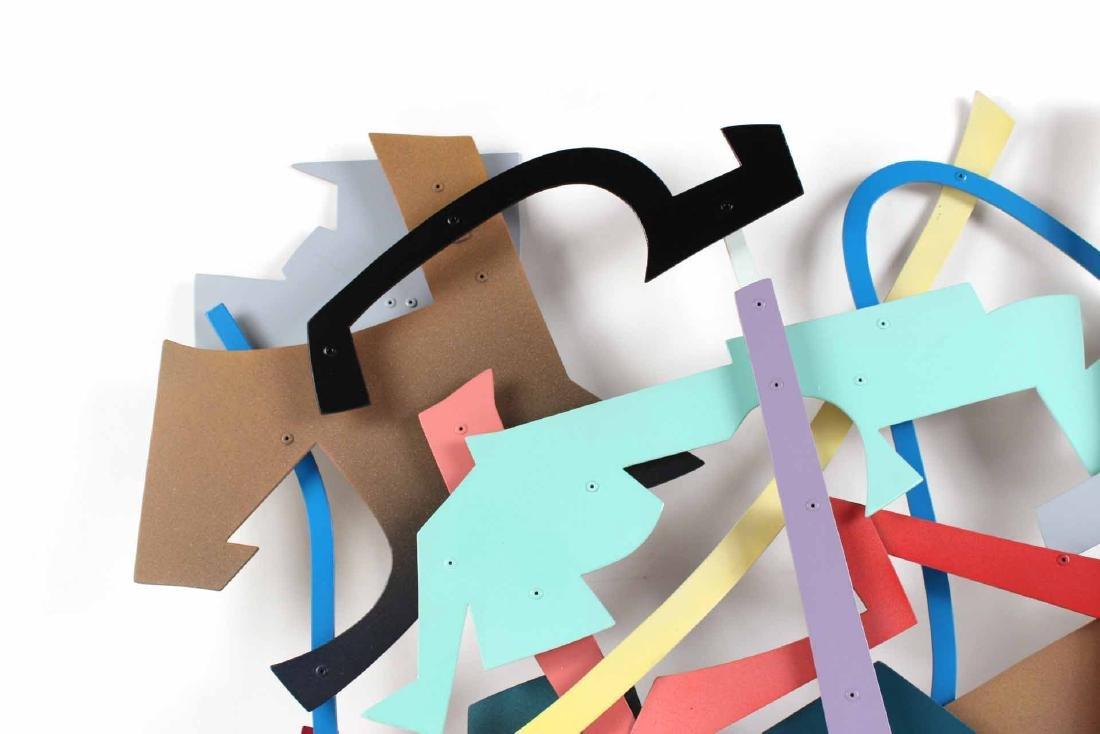 Painted Metal Wall Sculpture, Daniel Roache - 4