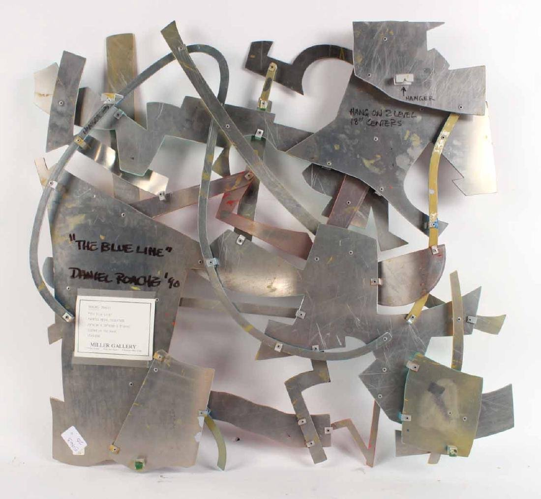 Painted Metal Wall Sculpture, Daniel Roache - 6