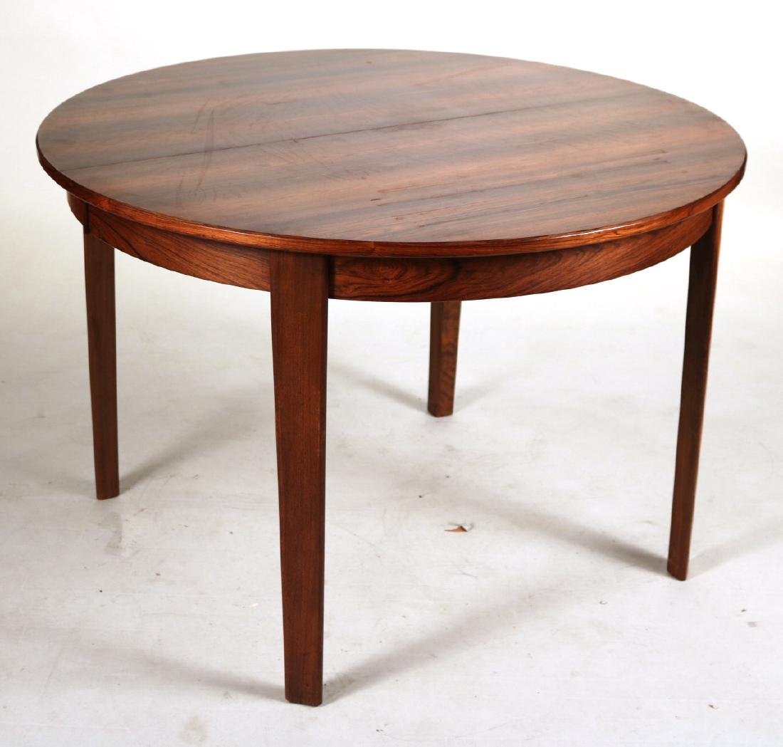 Modern Mahogany Circular Dining Table