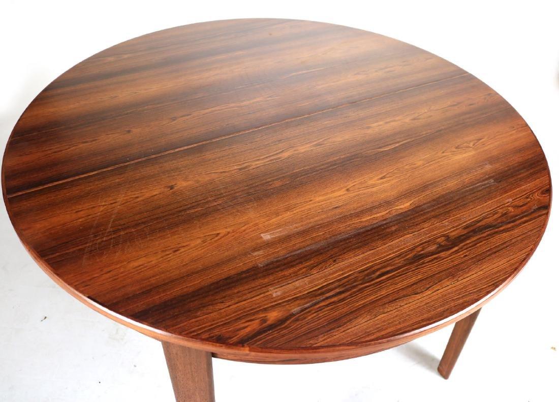 Modern Mahogany Circular Dining Table - 2