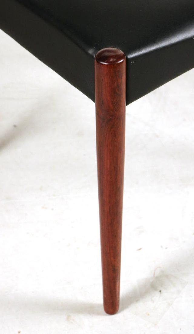 Eight Black-Leather and Mahogany Dining Chairs - 3