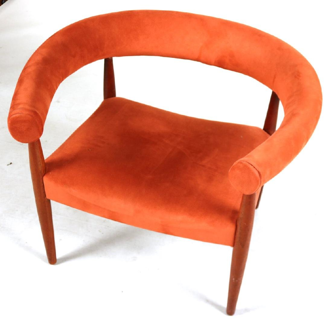 Danish Modern Walnut Horseshoe Back Club Chair - 2