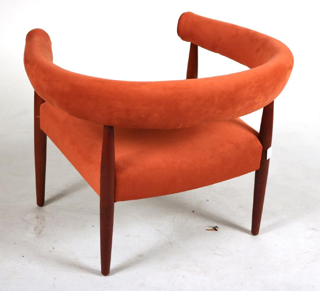 Danish Modern Walnut Horseshoe Back Club Chair - 5