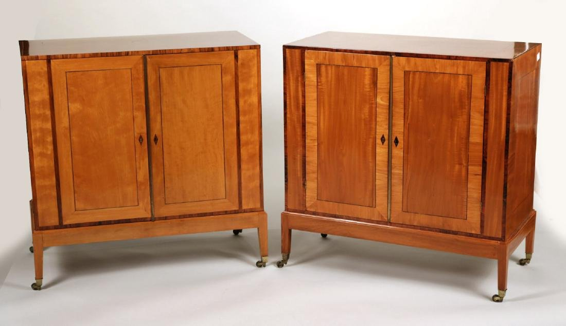 Pair of Late Edwardian Satinwood Cabinets