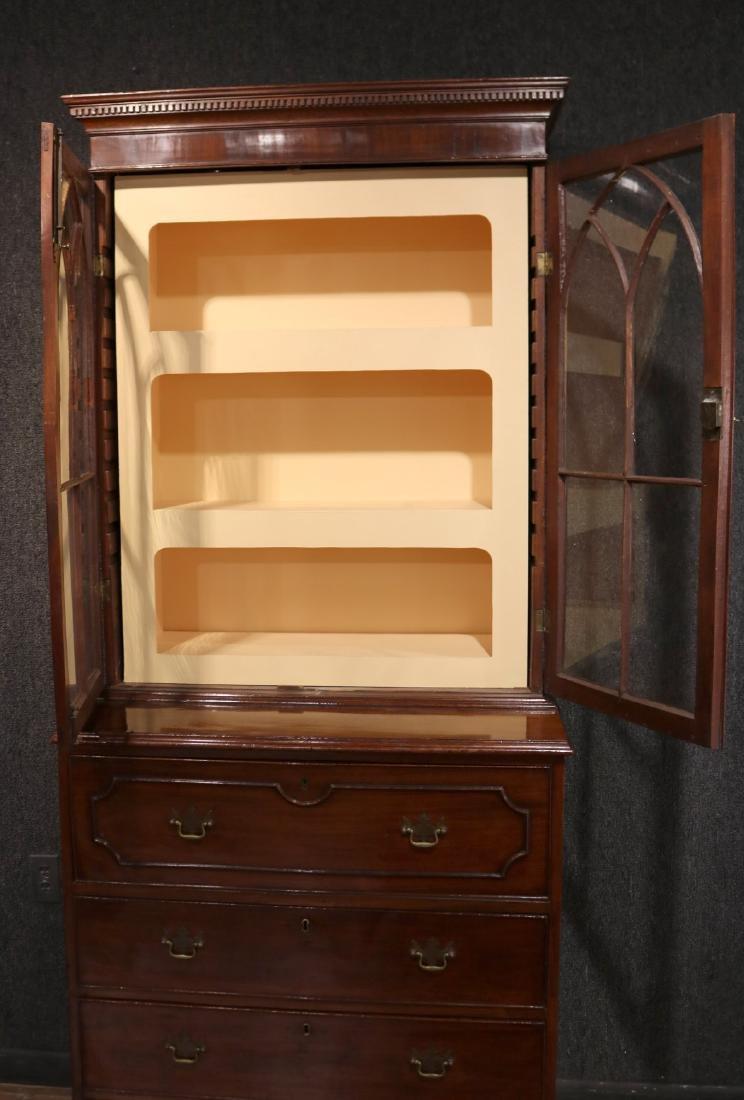 George III Mahogany Secretary Bookcase - 4