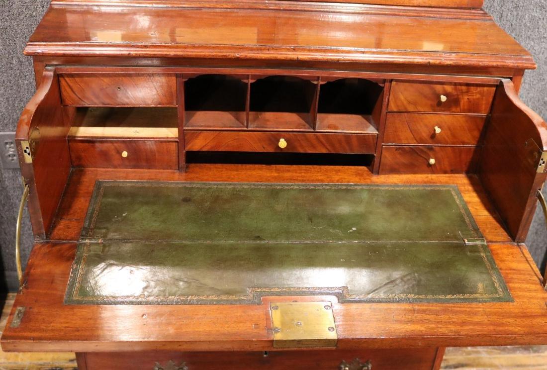 George III Mahogany Secretary Bookcase - 7