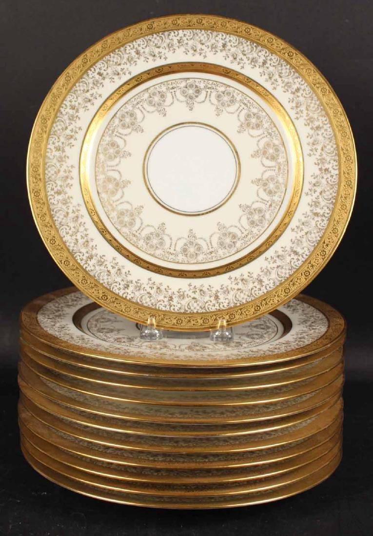Twelve Heinrich Selb Porcelain Dinner Plates