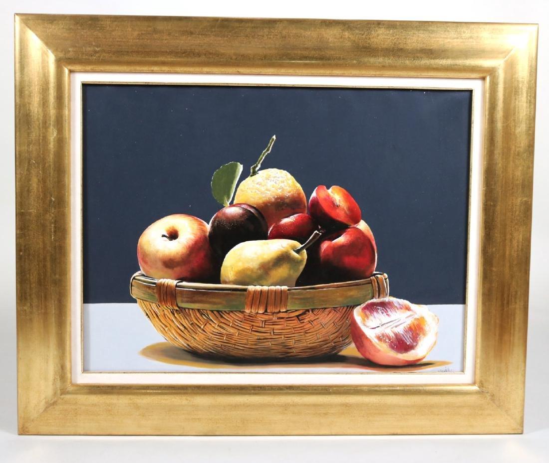 Oil on Canvas, Still Life of Fruit
