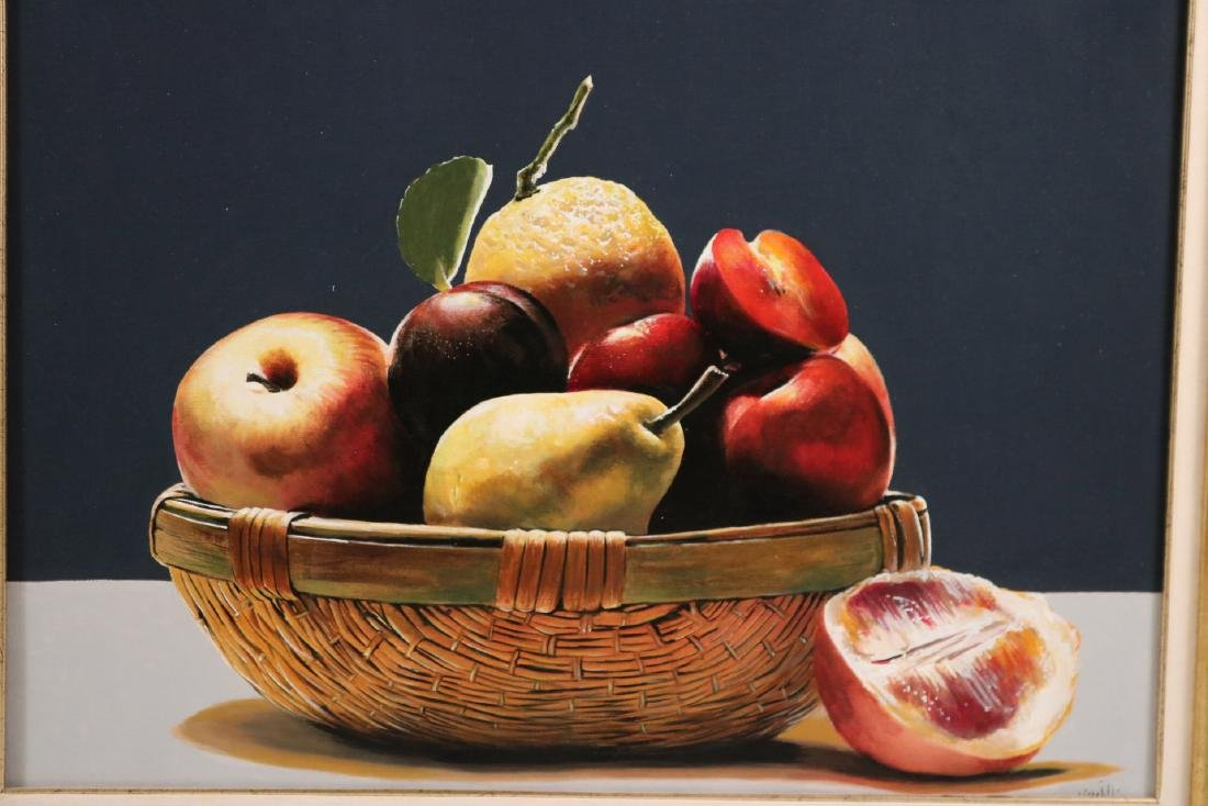 Oil on Canvas, Still Life of Fruit - 2