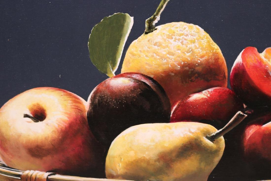 Oil on Canvas, Still Life of Fruit - 3
