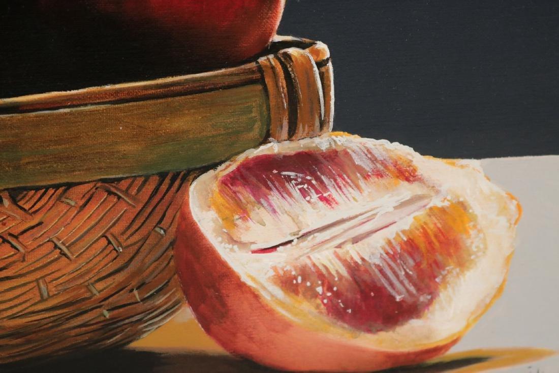 Oil on Canvas, Still Life of Fruit - 5