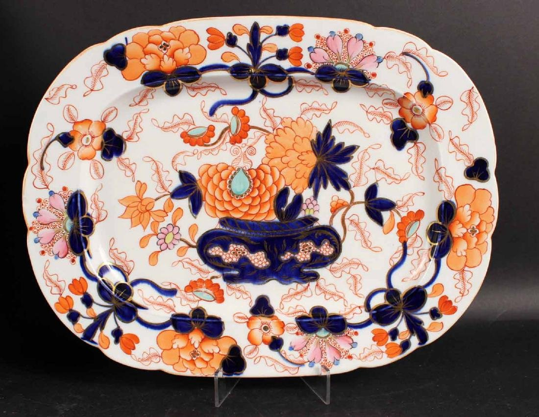 Six Imari Porcelain Platters and Two Oval Bowls - 4