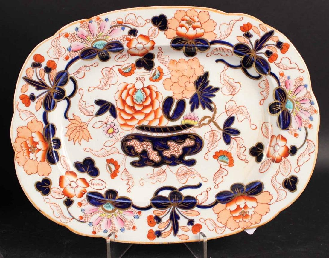 Six Imari Porcelain Platters and Two Oval Bowls - 5