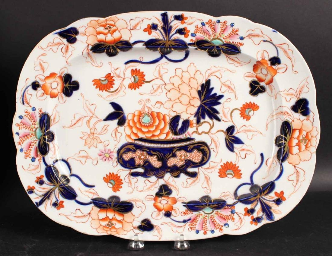 Six Imari Porcelain Platters and Two Oval Bowls - 6