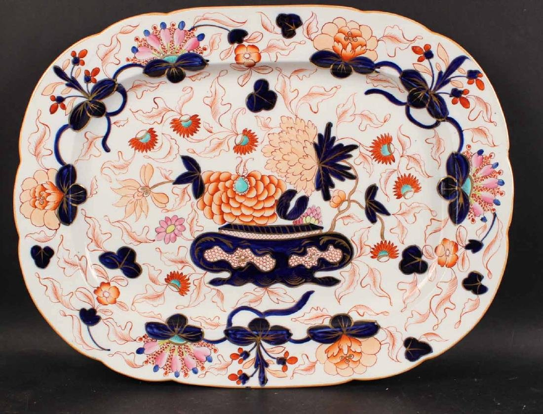 Six Imari Porcelain Platters and Two Oval Bowls - 7