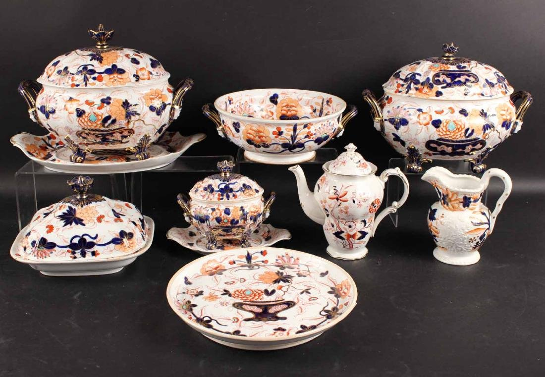 Group of Imari Porcelain Table Articles
