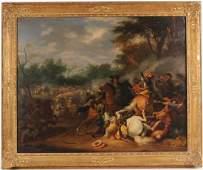 Oil on Canvas, Battle Scene
