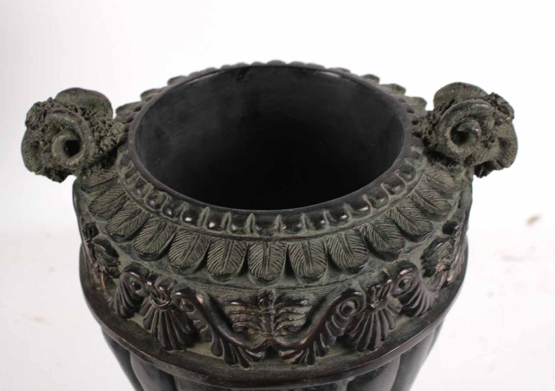 Pair of Neoclassical Style Composition Urns - 6