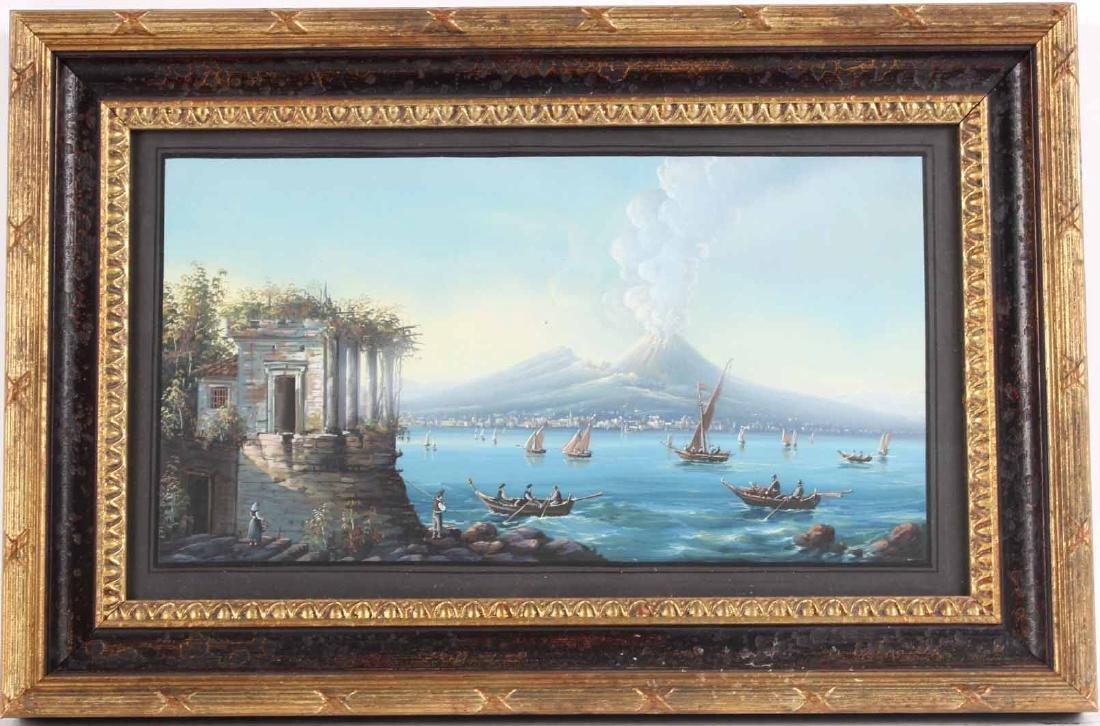 Gouache, View of Mt. Vesuvius