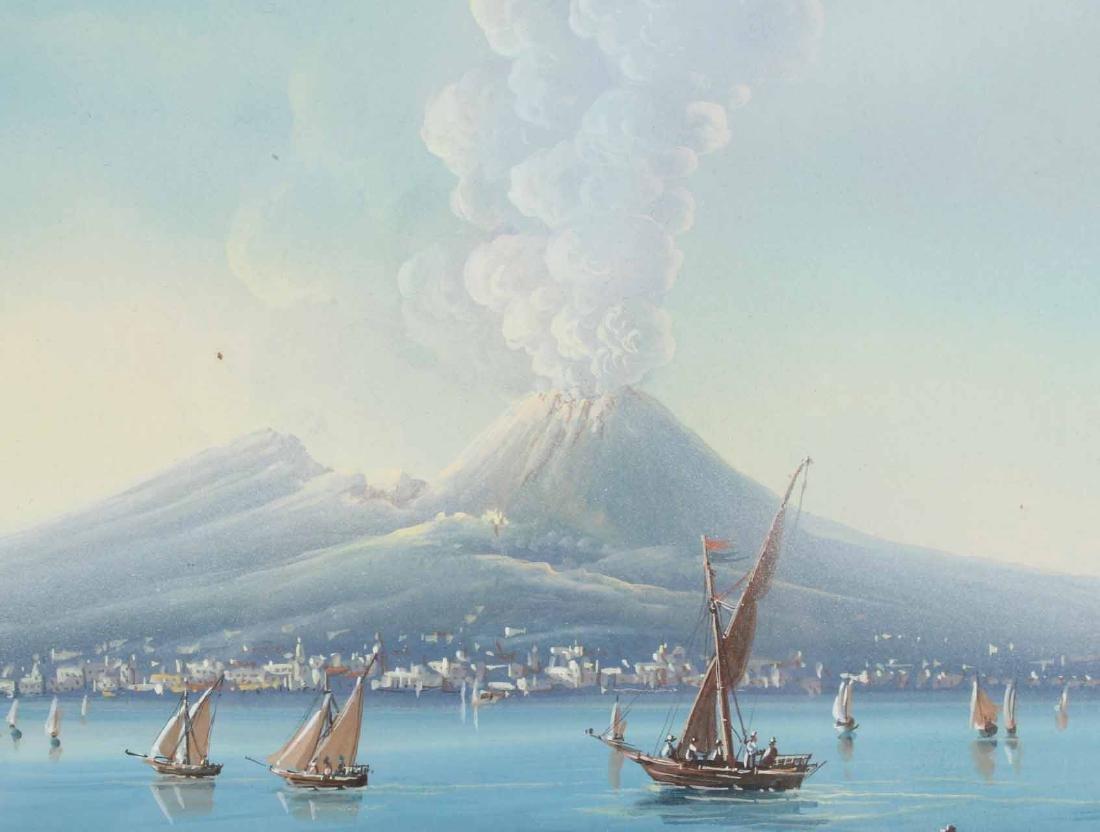 Gouache, View of Mt. Vesuvius - 5