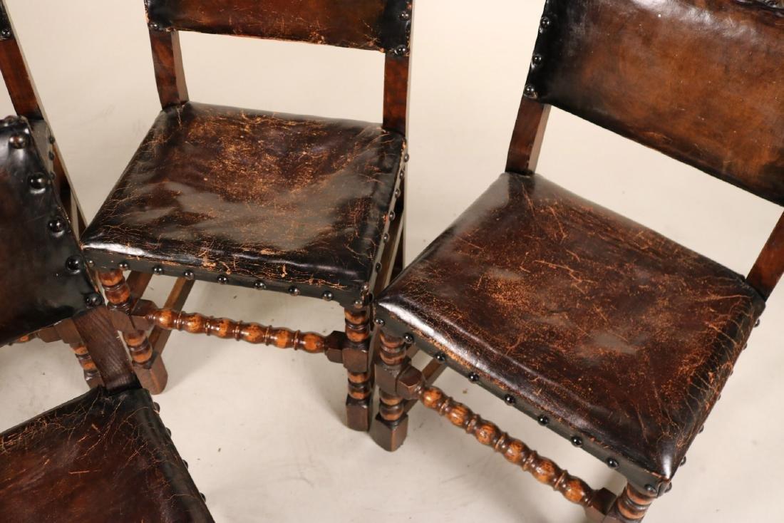 Four Jacobean Style Turned Maple Backstools - 2