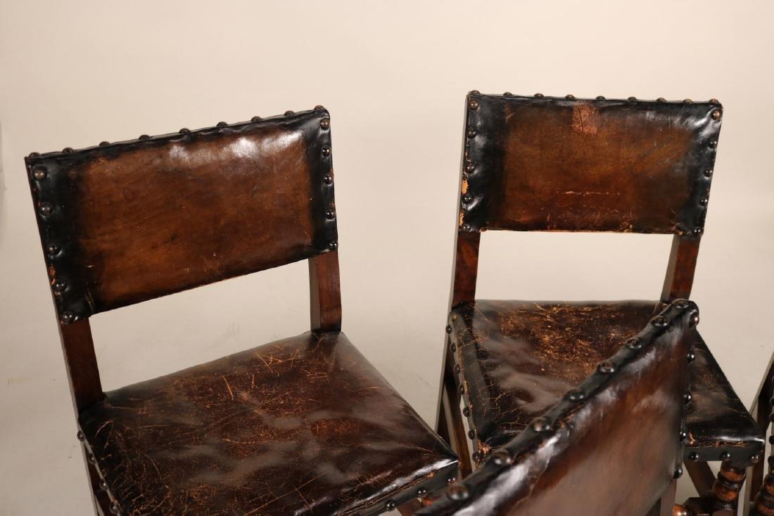 Four Jacobean Style Turned Maple Backstools - 3