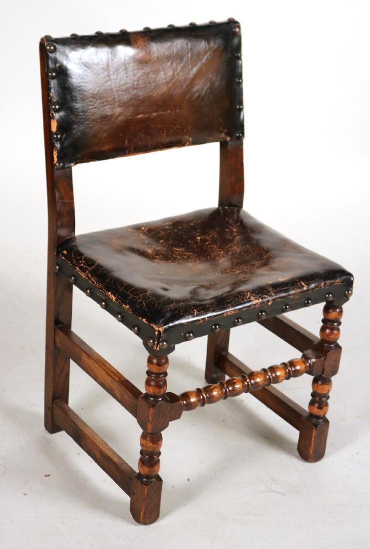 Four Jacobean Style Turned Maple Backstools - 4