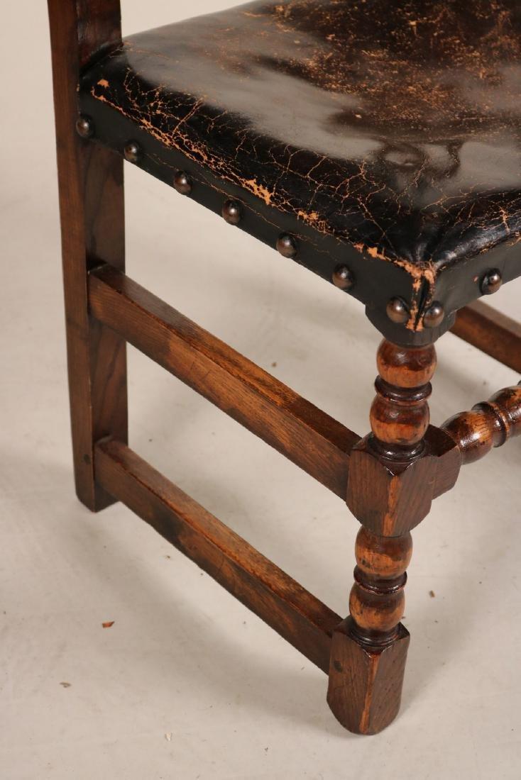 Four Jacobean Style Turned Maple Backstools - 5