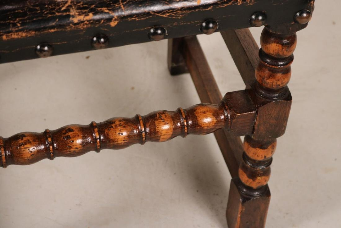 Four Jacobean Style Turned Maple Backstools - 6