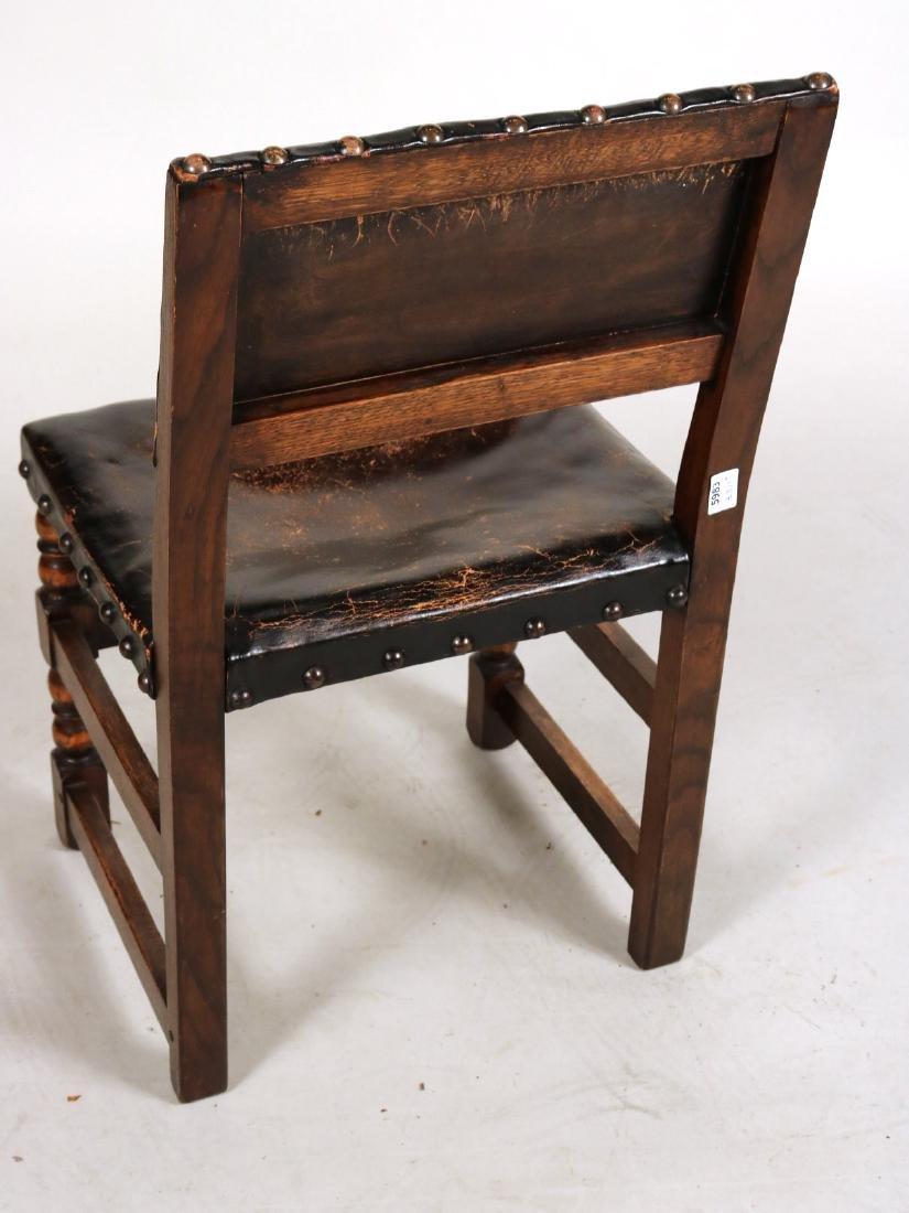 Four Jacobean Style Turned Maple Backstools - 8