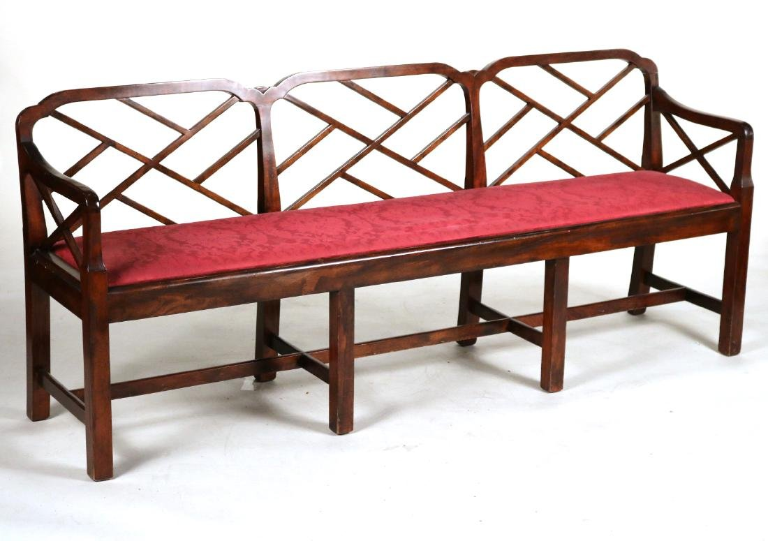 "George III ""Chinese Chippendale"" Style Settee"