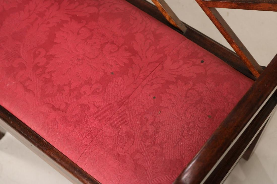 "George III ""Chinese Chippendale"" Style Settee - 6"