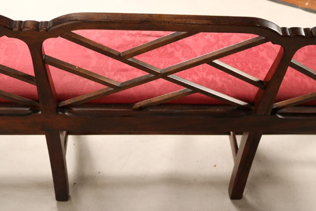 "George III ""Chinese Chippendale"" Style Settee - 7"