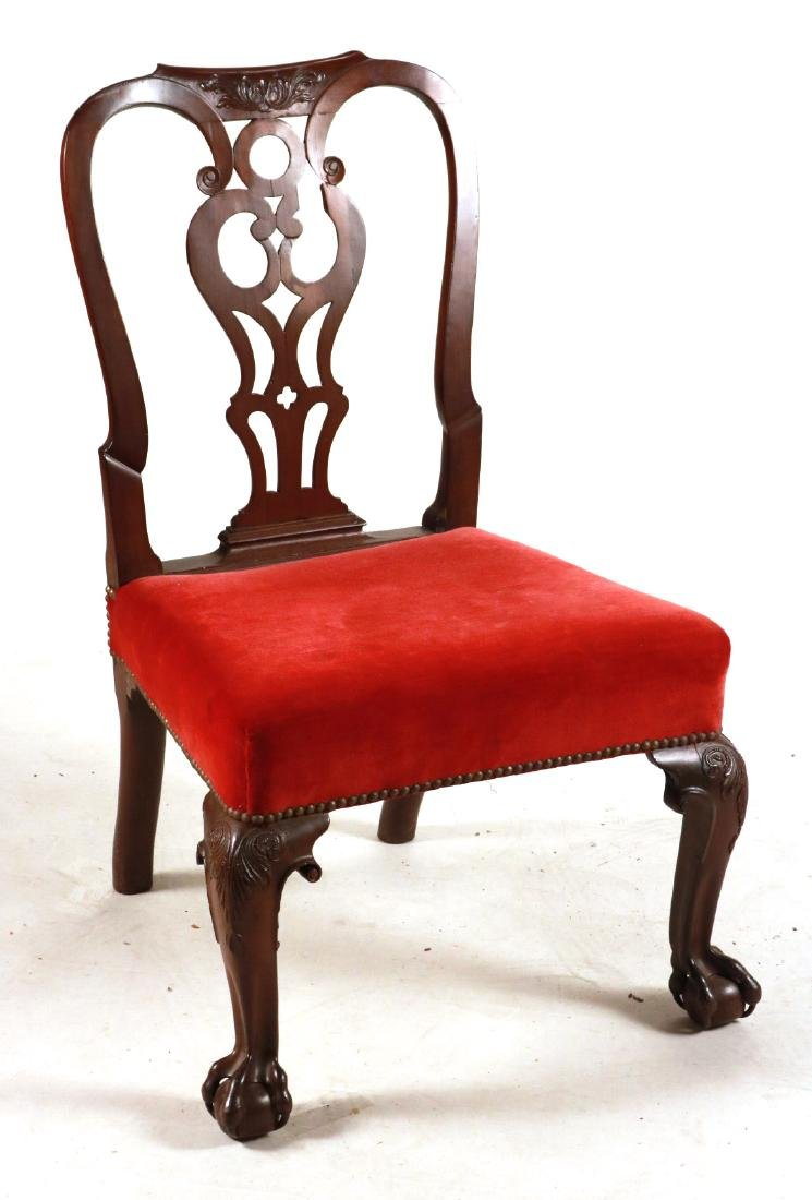 George II Carved Mahogany Side Chair